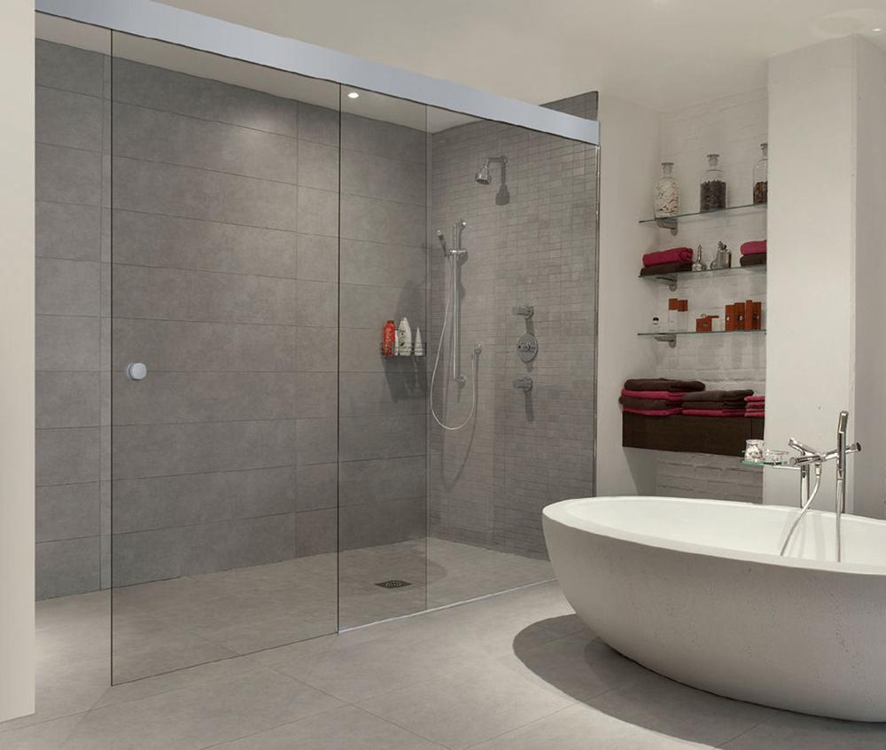 Puertas Correderas Para Un Baño:de baño corredera una puerta y un fijo con sistema corredera de
