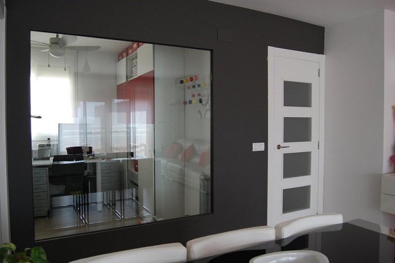 Paredes y ventanas fijas - Pared cristal cocina ...