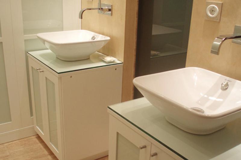 Encimeras de cristal para lavabos encimera lavabo de - Encimeras de cristal ...
